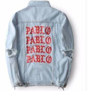 Jackets & Blazers - Kanye West Pablo oversized jean jacket size large
